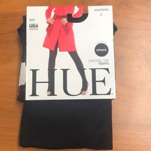 "NWT ""HUE"" TIGHTS - size 2. Black Opaque"
